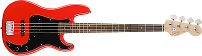 Fender Squier Affinity Series 4-String Precision P J Electric Bass in Race Red