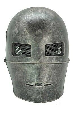 Paintball BB Gun Airsoft Full Face Protection Coarse Iron Man Mask Prop Cosplay