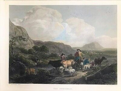 N.BERGHEM-J.B.ALLEN The Herdsman L'allevamento 1859  From The Royal Collection