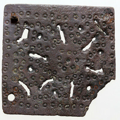 A Roman Or Byzantine Large Size Bronze Square Plaque Ornament