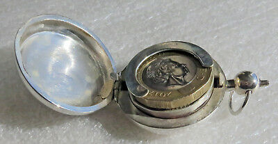 Sterling Silver Coin Holder -  Gold Sovereign / Pound Coin