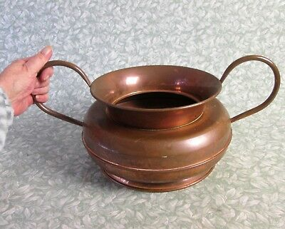 Vintage French Large Rare GAOR VILLEDIEU COPPER PLANTER Urn Vase Plant Pot