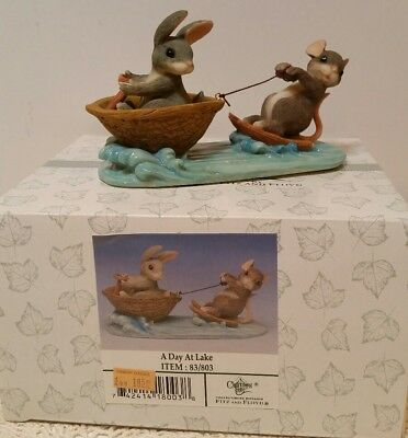 Charming Tails 'a Day At The Lake' Figurine