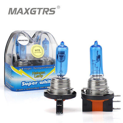 2x Canbus Auto H15 Halogenlampen Cool Blue 55/15 Watt Xenon Look VW FORD