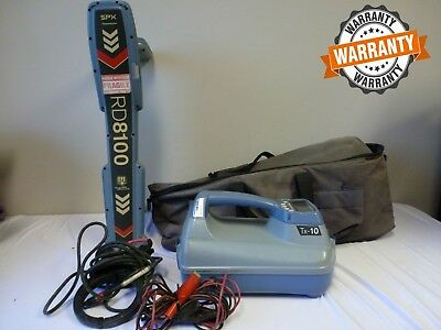 SPX Radiodetection RD8100 PDL with TX-10 Pipe & Cable locator  (FAST SHIPPING)