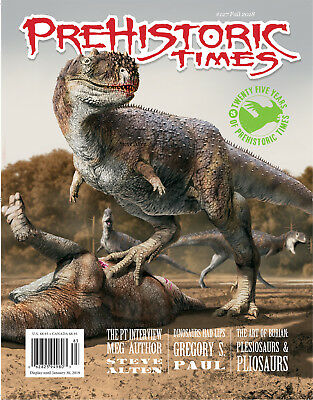 NEW #127 Latest Issue Prehistoric Times dinosaur magazine PT Fall 2018!