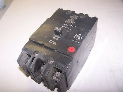 TEY380 General Electric GE Type TEY Circuit Breaker 3 Pole 80 Amp 480V