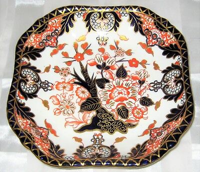 Antique Royal Crown Derby - Kings pattern 383 - SSquare Serving Tray ca1885