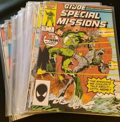 G.I.JOE SPECIAL MISSIONS almost complete run 1 - 26, & 28 MARVEL comic book lot