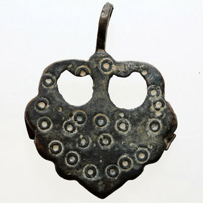 A Byzantine Bronze Decorated Large Size Pendant Circa 700 Ad , Wearable