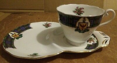 Royal Standard Bonnie Scotland Clan MacDonalds. 2330 Pattern Cup And Sandwich
