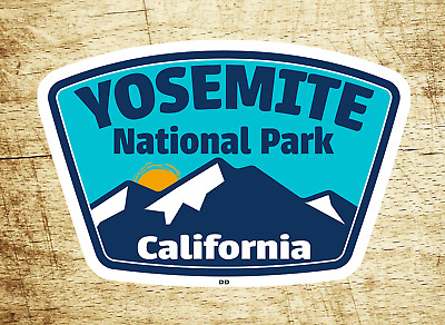 "Yosemite National Park Decal Sticker Vinyl California 3.75"" x 2.5"""