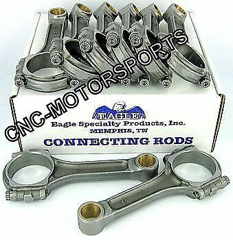 SIR6135B BB Chevy 396 454 Eagle 5140 Forged I Beam Connecting Rods Bushed 6.135