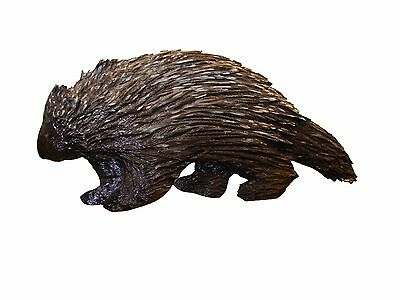 Chainsaw Carving Porcupine Carved Cabin Decor Rocky Mountain Wall Art 17130