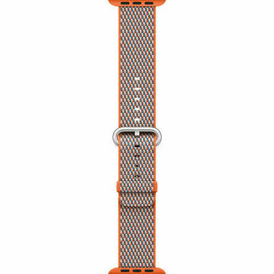 Apple Watch Woven Nylon Band (38mm, Spicy Orange Check)