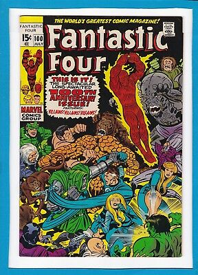 Fantastic Four #100_July 1970_Very Fine_Bronze Age Anniversary Issue_Jack Kirby!