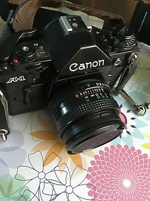 Canon A-1 35mm SLR Plus A Ton Of Extras!