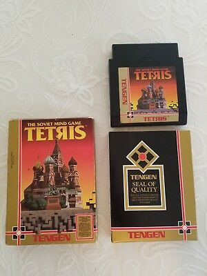 TENGEN TETRIS Nintendo NES Complete in box with black cart and cart insert- RARE