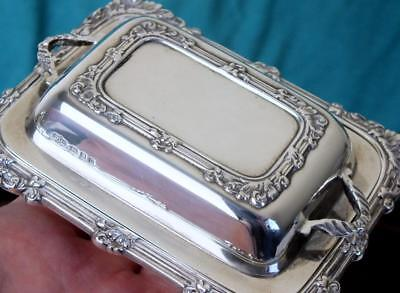 175g Superb Solid Silver Butter Dish / Mini Entree Dish - Ldon 1938 - BPLLC