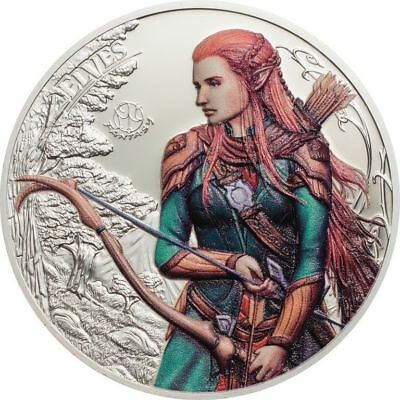 2017 $5 Palau Fantastic Fantasy Elves High Relief .999 Silver
