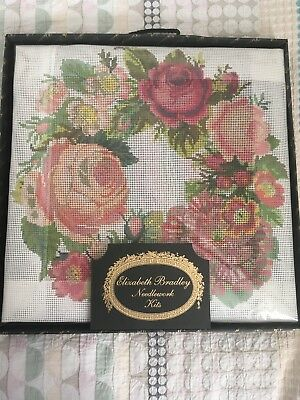 Elizabeth Bradley 'A Wreath of Roses' Decorative Victorian Needlework Kit *NEW*