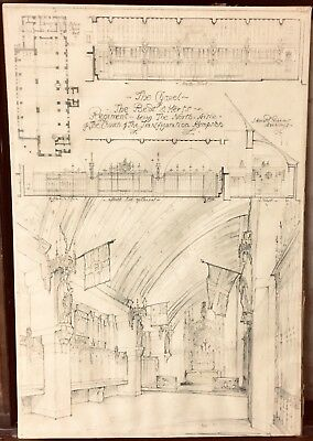 Architectural Drawing Church of The Transfiguration Kemptson J Harold Gibbons