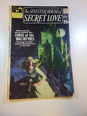 The Sinister House of Secret Love #1 GD condition