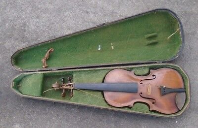 fine antique  full size  violin in case playable