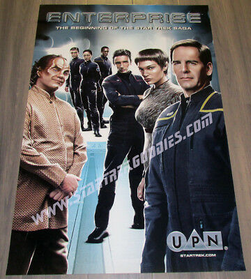 "RARE PROMO POSTER Star Trek: Enterprise UPN Advertising the New Series 24""x36""!"