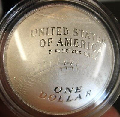 2014-P Proof One Dollar Baseball Hall of Fame Original Box and CoA Silver Coin