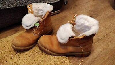 Mens Modern Timberland Fleece Lined Leather Ankle Boots Size Uk 8.5 Eur 43 Brown