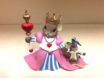Enesco / Charming Tails / Queen MOM and Little Jester NIB #4025761  c2011