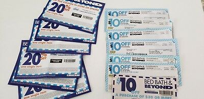 7 Bed Bath & Beyond Coupons $10 Off $30 in store & 6 @ 20% for single purchase