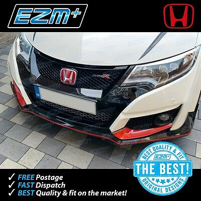 EZM Honda Civic Type R GT FK2 Front Bumper Scoop Decals GLOSS RED