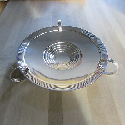Impressive antique silver plate fruit/sweet dish by Walker & Hall Art Deco Style