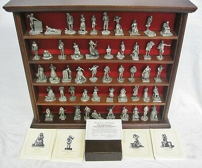 Franklin Mint Parade of the American People Saturday Evening Post 50 Piece Shelf