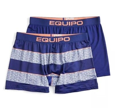 NWT Men's Equipo 2-Pack Striped Boxer Briefs - Medium