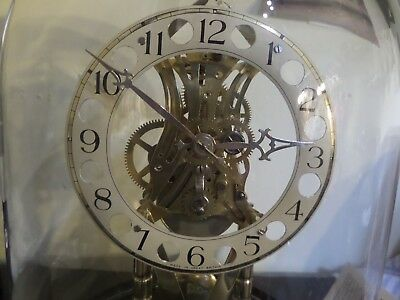 "Pro Clock Skeleton Clock ""004"" under glass dome hand made. 106 photos of work"