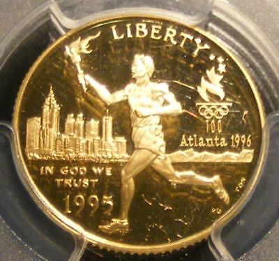 PROOF 1995 W $5.00 Gold Olympic Torch Runner Commemorative PCGS PR 70 DCAM