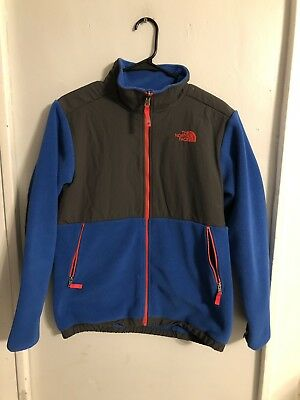 Boys North Face DENALI Fleece BLUE / Grey Jacket (Size: X-Large 18-20)