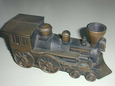 "Early Vintage Banthrico ""general"" Steam Train Engine Bank With Metal Cover + Key"