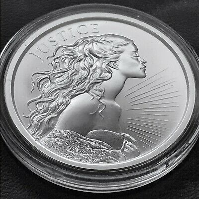 2018 Silver Shield Four Cardinals Virtures Series Justice 1 oz Silver Wastweet