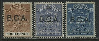 British Central Africa 1891 4d and 6d (2) shades mint o.g.