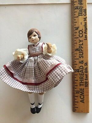 Vintage Dollhouse Miniature Doll—adorable!!