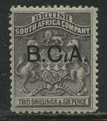 British Central Africa 1891 2/6d gray lilac mint o.g.