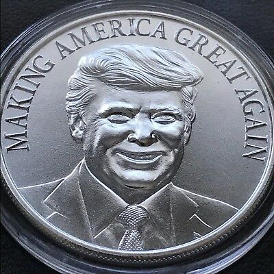 Donald J. Trump Series Making America Great Again 1 oz .999 Fine Silver Medal BU
