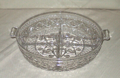 Imperial Glass Cape Cod 150-66 4 Part Divided Relish Server Clear