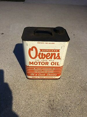 RARE  Owens Oco 2 Gallon Oil Can 1ST OFFER  ITS YOURS