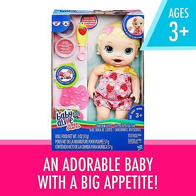 New Hasbro Baby Alive Doll Snackin' Lily Blonde Hair C2697
