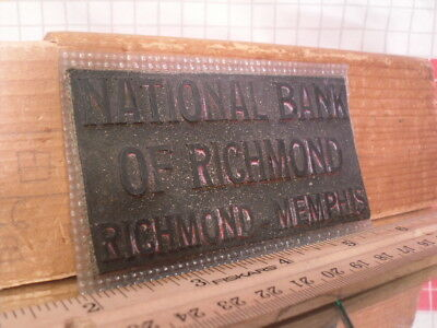 Flexographic Printing Plate Rubber Stamp - National Bank of Richmond
